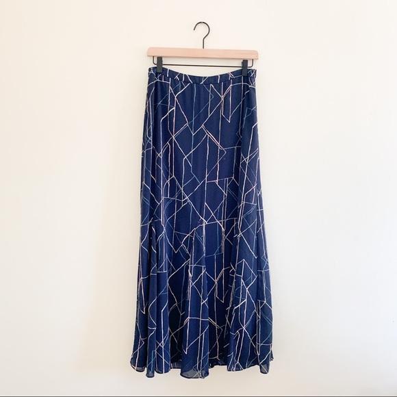 Banana Republic Printed Flowy Summer Maxi Skirt 6